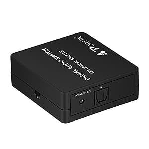 Portta Audio Splitter Répartiteur 3 Port 1 x Entrée à 3 x Sorties Toslink SPDIF Supporte 5.1CH LPCM 2.0 DTS Dolby-AC3