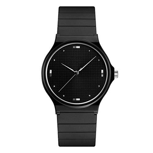 CREATIVE New Herren- und Damenuhren, schlanke minimalistische ultradünne Elektronik, wasserdicht (schwarz) Sports (Color : B)