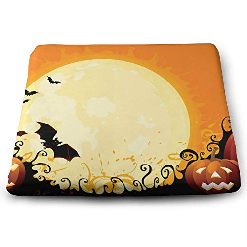 (keiwiornb Stain Resistant Cushion/Square Car Seat Cushion-Halloween)