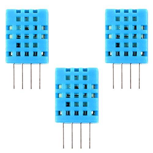Preisvergleich Produktbild IZOKEE 3 Stück DHT11 Digital Temperatur- und Luftfeuchtigkeitssensor für Arduino und Raspberry Pi (3x DHT11)