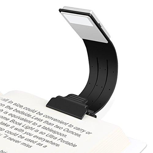 LED Leselampe Klemmleuchte Leselicht USB,Buchlampe Schreibtischlampe mit 4 Helligkeit Clip Klammer Flexibel Buchlampe Buch Lesen Led Leseleuchte für Kindle, eReader, iPad, Reisen, Laptops(Schwarz)