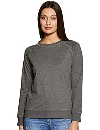 Amazon Brand - Symbol Women's Cotton Sweatshirt (AW18WNSSW01_Dark Grey Mel_Small)