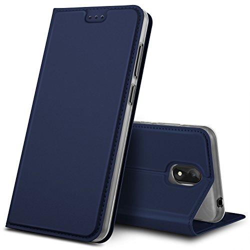 GeeMai Wiko View Go Hülle, Premium Flip Case Tasche Cover Hüllen mit Magnetverschluss [Standfunktion] Schutzhülle Handyhülle für Wiko View Go Smartphone, Blau