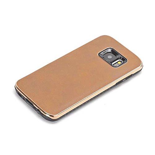 EKINHUI Case Cover Ultra Thin und leichte Retro verrückte Pferd Leder Skin Dual Layer PC + TPU Hybrid Shell Cover Case [Shockproof] für Samsung Galaxy S7 ( Color : Blue ) Yellow