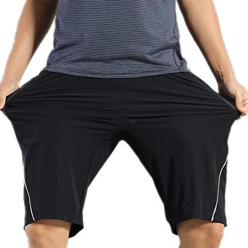Radhose für Herren Mountainbike-MTB-Baggy-Shorts mit Reißverschlusstaschen Wasserabweisend Sport Radfahren Laufen Shorts Baggy Shorts Atmungsaktive Outdoor-Sportbekleidung (Color : Black, Size : L)