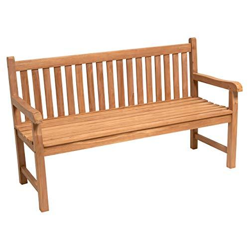 Divero 3-Sitzer Bank Holzbank - 3