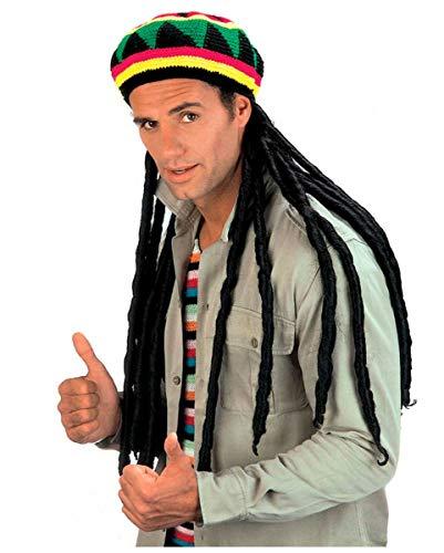 Jamaika Mütze mit Rasta ()