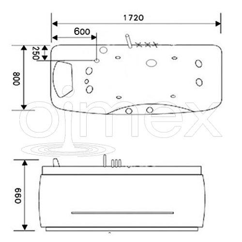 "OimexGmbH Design Whirlpool ""Gloria"" exklusiv 172 x 62 x 80 cm - 6"