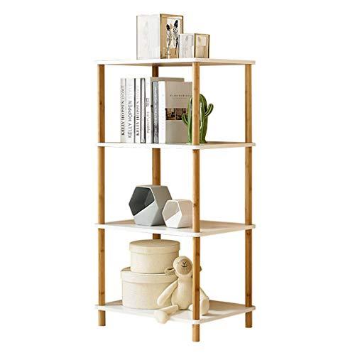 Midi- & Hochschränke Lagerregal Regal Display Rack Badezimmer Regal Blumenständer Massivholz Bücherregal (Color : Beige, Size : 80 * 36 * 116cm)