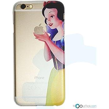 Coque rigide transparente blanche neige pour iPhone 6 Plus et 6S Plus
