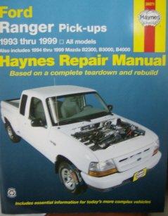 Ford Ranger Pickups: 1993 Thru 1999