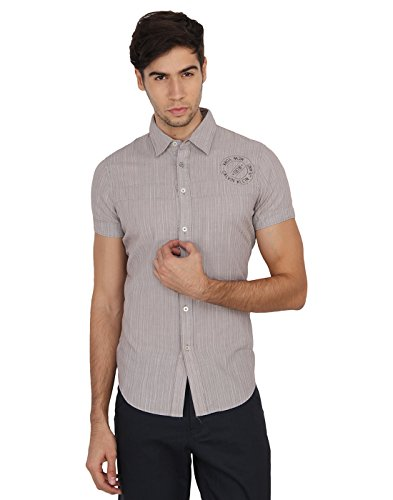 Calvin Klein Men's Striped Casual Shirt  available at amazon for Rs.1949