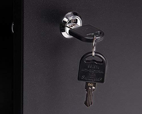 Ondis24 Werkstatteinrichung grau Werkbank Werkzeugschrank abschließbar Lochwand mit Haken 240 x 60 x 202 (H) cm - 4