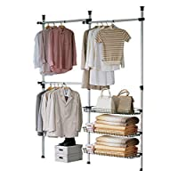 SoBuy® FRG34/35 Herkule Telescopic Wardrobe System, Large Clothes Hanger (160-195) x Height 103-278 cm)