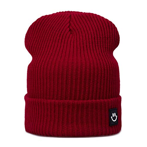 vnmxv Fashion Women Winter Hat Cap Cotton Cartoon for Boys Girls Brand Warm Beanie Skullies Hat Wholesale Hhhhp, Weinrot