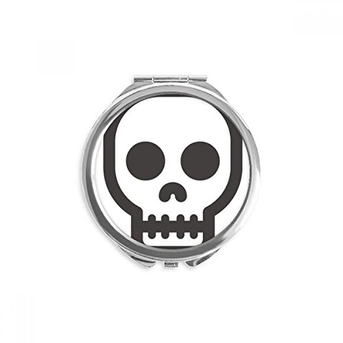 DIYthinker Shut Up Skelett Online Emoji Spiegel Runde bewegliche Handtasche Make-up 2.6 Zoll x 2.4 Zoll x 0.3 Zoll Mehrfarbig