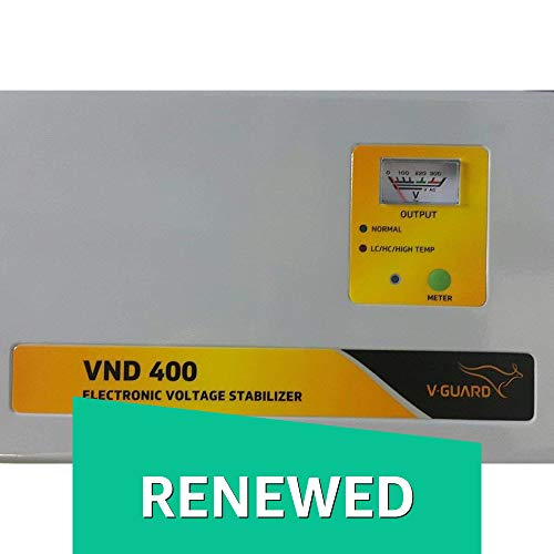 Renewed  V Guard VND400 Voltage Stabilizer for 1.5 Ton AC  150V 290V  Voltage Stabilizers