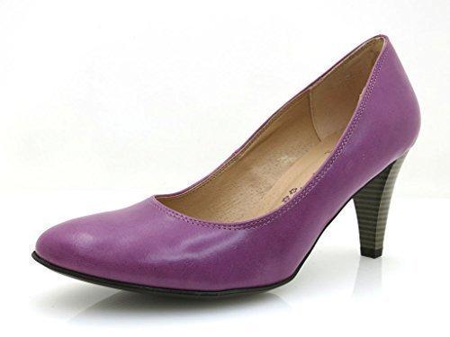 Laura Lenti Damen Klassische Pumps Schuhe Lila 5050