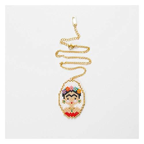 Collar Frida Frida Caricatura Mujer Marco De Fotos