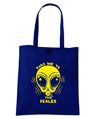 T-Shirtshock - Borsa Shopping FUN0197 08 04 2013 Take Me To Your Dealer T SHIRT det Blu Navy