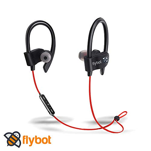 Flybot Wave in-Ear Sport Wireless Bluetooth Earphone with Mic and IPX4 Sweatproof – (Red)