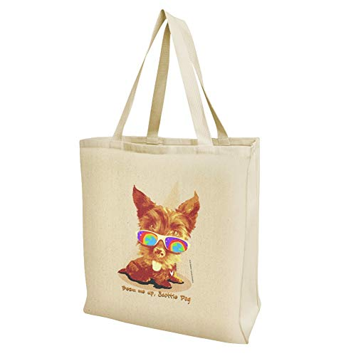 Beam Me Up Einkaufstasche mit Scottie-Motiv, Vintage, Retro, wiederverwendbar, groß (Baldwin Möbel)
