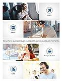 Mpow [Actualidad] H16 Cascos Bluetooth Inalámbricos, Auriculares Diadema con Cancelación Activa de Ruido, Carga Rápida(10min=2hrs) y 30 Hrs de Juegos, Cascos Plegable con Micrófono para TV PC Móvil