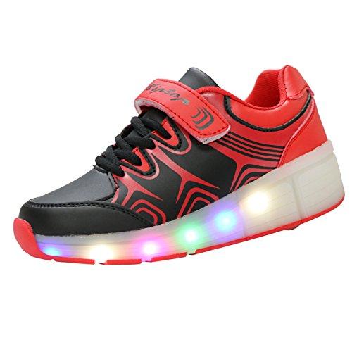 KIPTOP®-Zapatillas con ruedas led 5 colores para niños y niñas