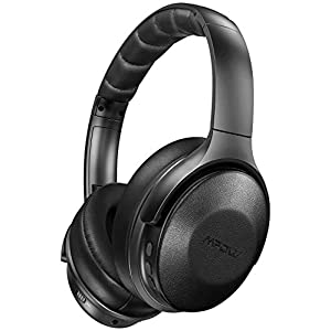MPOW H17 Active Noise Cancelling Headphones, Over-ear Bluetooth Headphones with Rapid Charge, ANC Headphones with Soft Genuine Protein Earpads, Hi-Fi Stereo Sounds, 30H Playtime