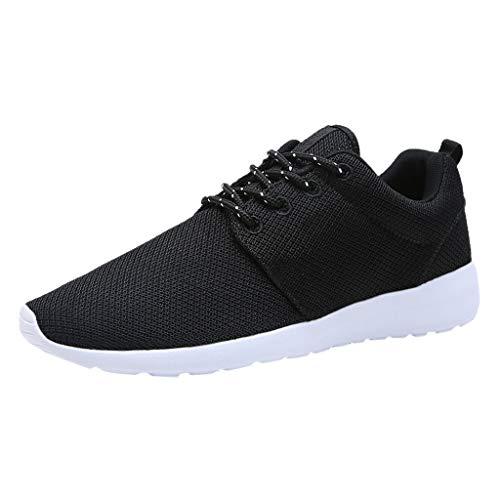 LILICAT Scarpe Running Sneakers Uomo Sport Scarpe da Ginnastica Fitness Respirabile Mesh Corsa Leggero Casual all'Aperto Scarpe da Corsa(Bianca H,46 EU)