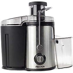 PRIXTON - Centrifugeuse Extracteur de Jus / Extracteur de jus de Fruits et Légumes, Puissance 600 W, Lames puissantes, 2 vitesses différentes, Conçues en Acier Inoxydable et Plastique de qualité