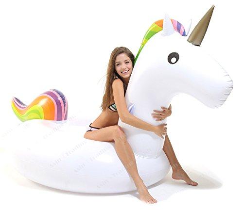 Tante tina - unicorno gonfiabile gigante cavalcabile galleggiante - arcobaleno