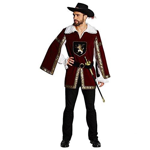 Mottoland Herren Kostüm Musketier Ritter Ritterkostüm Karneval Fasching Gr.52