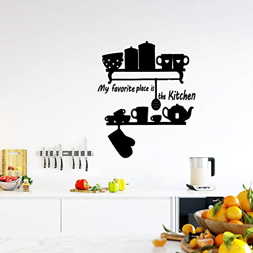 TYLPK Freies Verschiffen Geschirr Wandkunst Aufkleber Wandaufkleber Wandbild Für Kinderzimmer Diy Dekoration Hintergrund Wandkunst Aufkleber Kaffee XL 58 cm X 69 cm