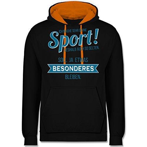 Sonstige Sportarten - Ich mache sehr gerne Sport - Kontrast Hoodie Schwarz/Orange