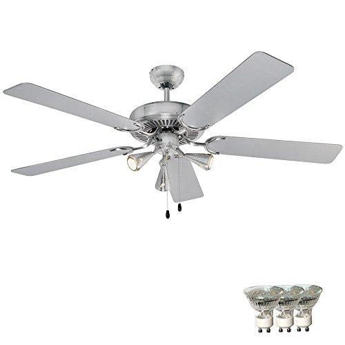 Decken Ventilator Kühler Leuchte Lüfter Lampe im Set inklusive LED Leuchtmittel ()