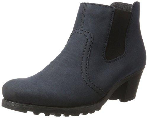 Rieker Damen Chelsea Boots Y8064,Frauen Stiefel,Halbstiefel,Stiefelette,Bootie,Reißverschluss,Trichterabsatz 5.2cm,Pazifik, EU 39