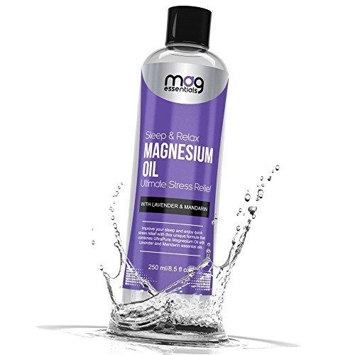 Aceite de magnesio dormir y relajarse 250ml con Lavendel y mandarín...
