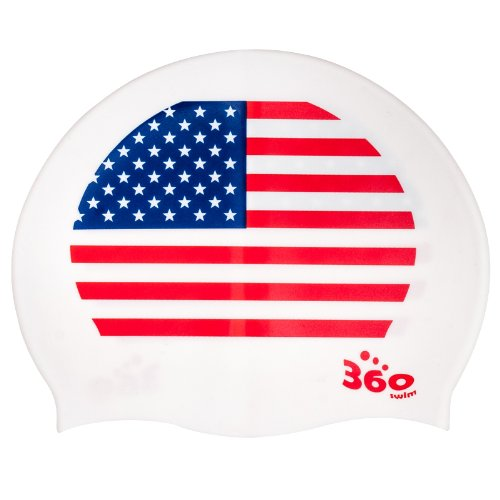 New Usa America Flag Patriotic Silicone Swimming