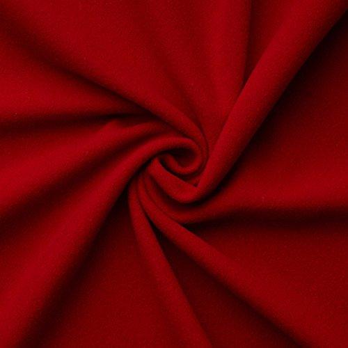 Nikolaus-/Weihnachtsmannstoff - schöner roter Wollstoff für die Weihnachts- und Adventszeit - Meterware