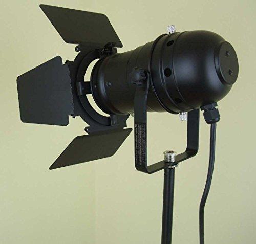 Verstellbare Flügel-lampe (PAR 30 Spot-Light Scheinwerfer SCHWARZ black PAR-30 mit Torblende, E-27 Fassung & Kabel mit Schuko-Stecker)