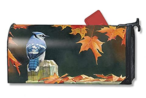 Autumn Blue Jay Magnetic Mailbox Cover