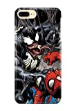 Case Me Up Coque téléphone pour iPhone 8+ [Plus] Venom Spider Man Eddie Brock Mac Gargan Marvel Comics 22 Dessins