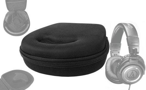 DURAGADGET Etui Rigide avec Coque de Rangement Noire pour Casque Audio Technica ATH-ANC9, ATH-WS99 & ATH-FC707, ATH-M50X / ATH-M40X et Oxygen O2 Umate, Moov et Groov