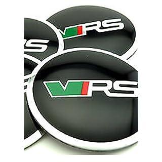 VRS Radmitte Nabenkappe 56,5mm Emblem Skoda Fabia Octavia Yeti VRS X4und 4Skoda Staubkappen