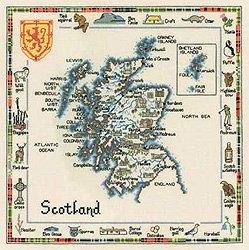 Heritage Crafts spezielle Interesse Karten Serie–Schottland Karte (14Count