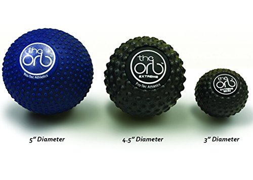 Pro-Tec Athletics The Orb Deep Tissue High Density Massage Ball, 12cm Diameter, Blue