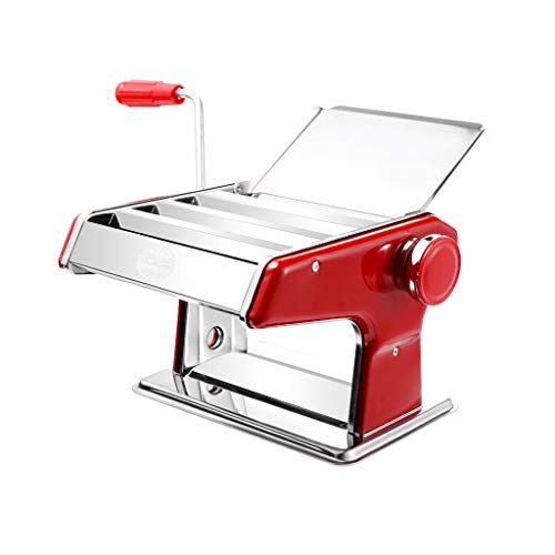 Mlife-Home Noodle Maker Settings For Fresh Homemade Fettuccine Spaghetti Lasagne Dough Roller Press Cutter Noodle Making Machine