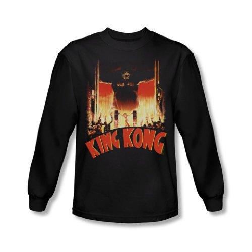 King Kong-At The Gates da uomo, maglietta a manica lunga, colore: nero