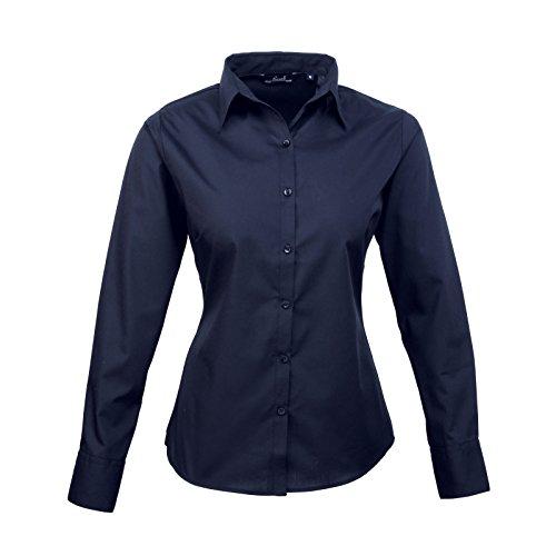 Damen-Shirt mit langen Ärmeln, aus Popeline Gr. 40, navy (Koch Tunika)